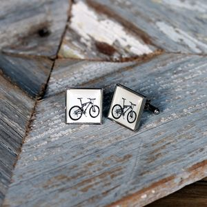 Mountain Bike Cufflinks