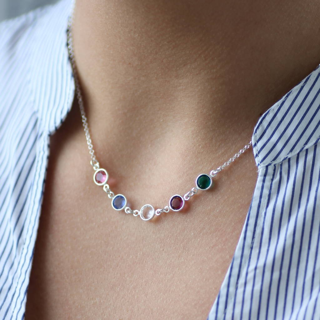 afe04cceecc family birthstone link necklace by joy by corrine smith ...