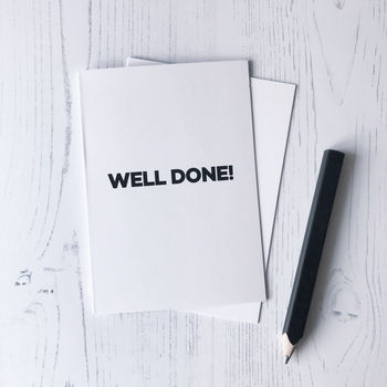 Personalised Well Done Greetings Card