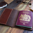 Personalised Italian Leather Passport Cover