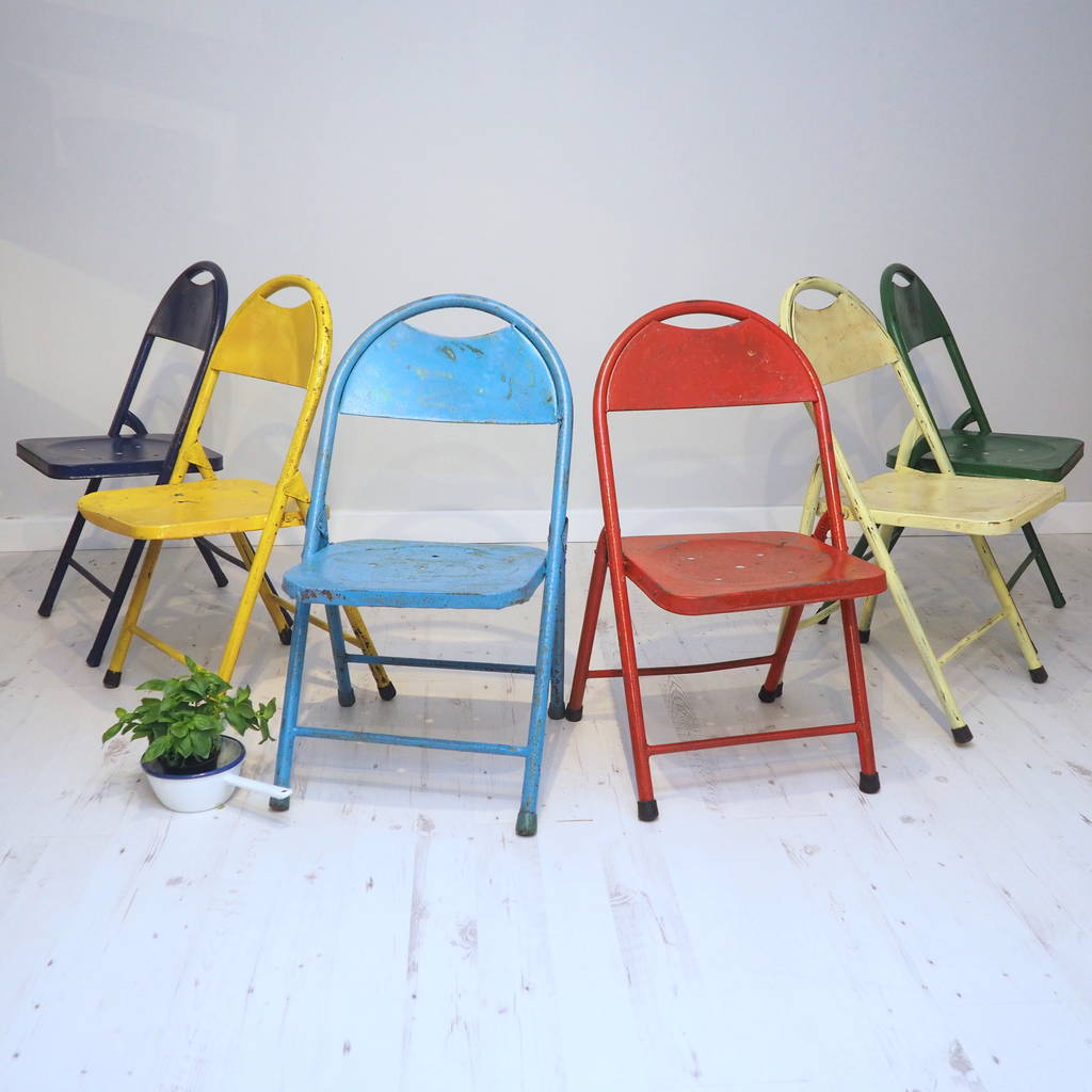 Vintage Folding Metal Chair