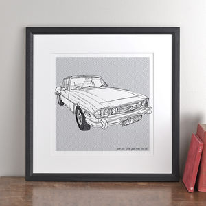 Personalised Car Illustration - art-lover