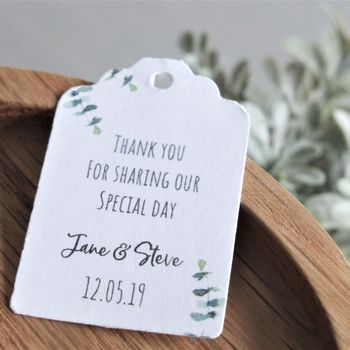 Eucalyptus Wedding Favour Tags