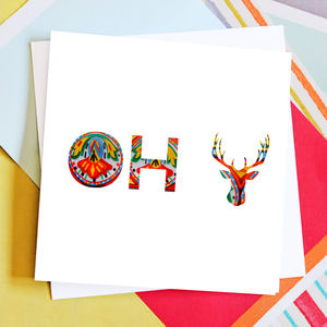 Oh Deer Christmas Card Pack - summer sale