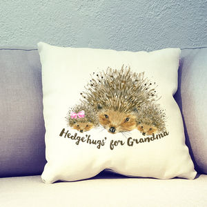 Personalised Mothers Day Hedgehog Cushion Cover