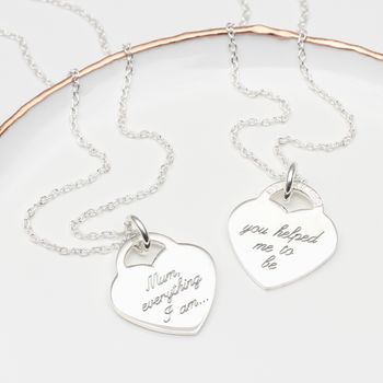 Personalised Sterling Silver Message Necklace