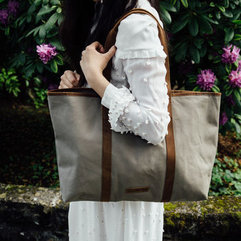 Canvas And Leather Shopper Tote
