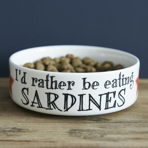 Sardines Cat Bowl - cats