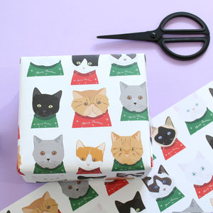 Christmas Cat Wrapping Paper - shop by category