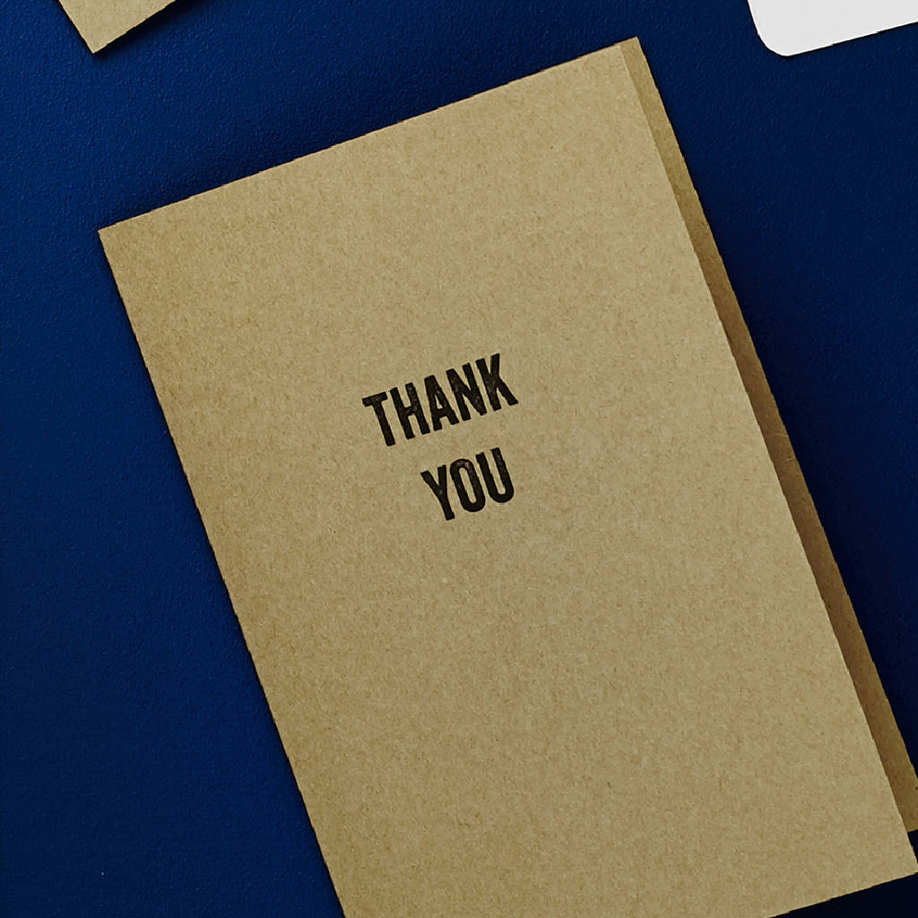Tag Design Thank You Card