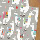 Llama Wrapping Paper Two Sheets