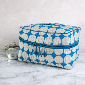 Big Cobalt Blue Spot Print Vanity Bag