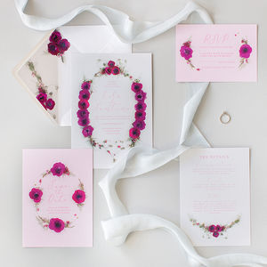 Wedding Invitations: The Secret Garden Collection - save the date cards