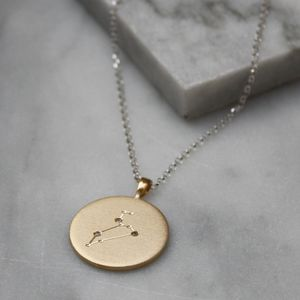 Christening Necklace With Diamonds For Leo Star Sign