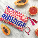 Ashiana Colourful Boho Holiday Fun Make Up Bag