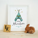 Personalised 'Little Adventurer' Illustration Print