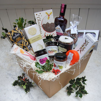 'Christmas Cheer' Deluxe Hamper With Sloe Gin