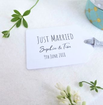 Wedding Favour Tags Just Married