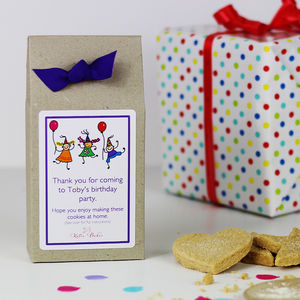 Personalised Party Time Shortbread Mix Party Bags