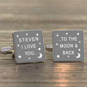 Personalised 'I Love You…' Silver Cufflinks