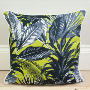 Tropical Palm Print Cushion - winter sale