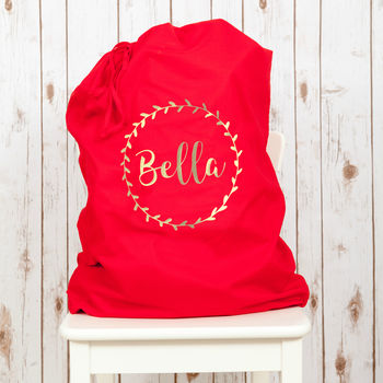Personalised Christmas Santa Sack With Name