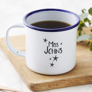 Enamel Personalised Teacher Mug