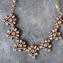 Vintage Style Rose Crystal Necklace