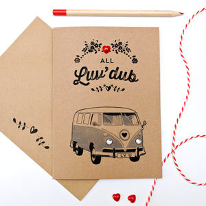 All Luvdub Vw Camper Van Card - shop by category