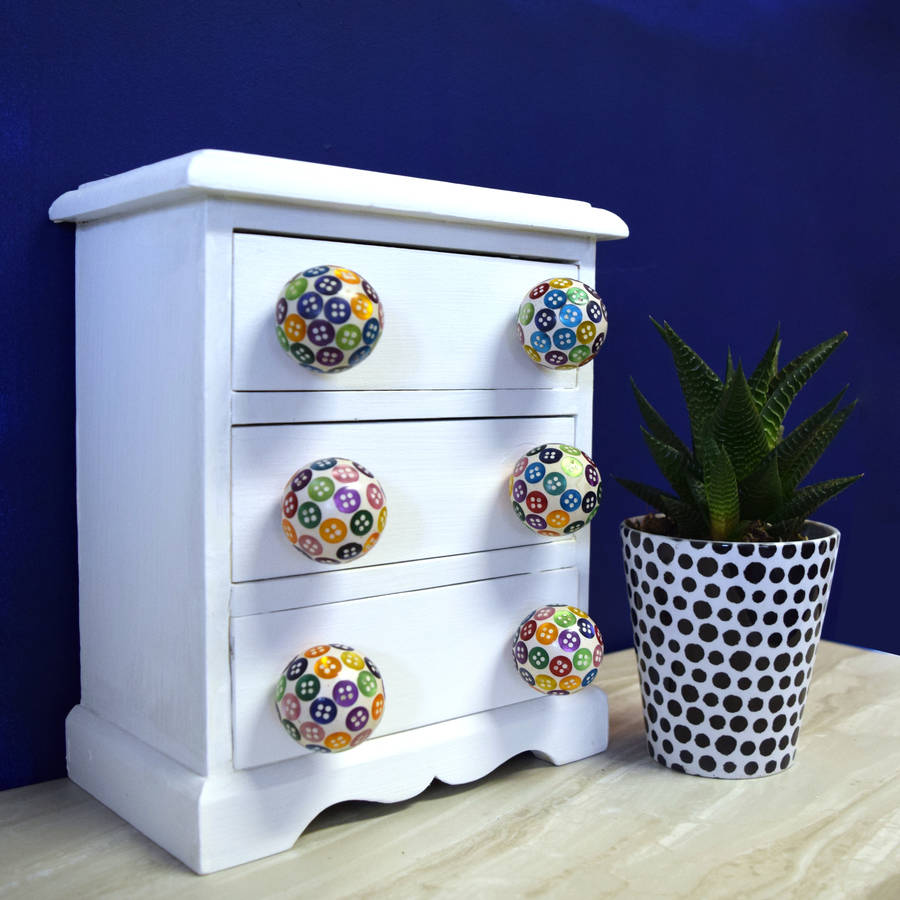 colourful button cupboard bedroom door knobs by pushka