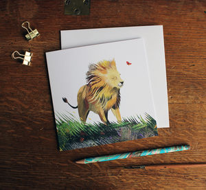 Lionheart Greetings Card