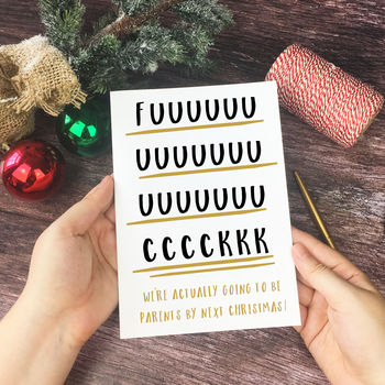 Rude Adult Humour 'Parents Next Year' Christmas Card