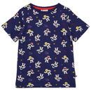 Kids Short Sleeve Navy Blue Astronaut T Shirt