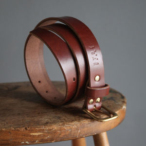 Personalised Leather Belt - gifts for him