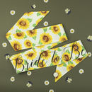 Sunflower Print 'Bride To Be' Hen Party Sash