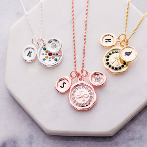 Friendship Wax Seal Charm Necklace - necklaces & pendants