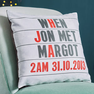 Personalised Cinema Marquee Faux Suede Cushion - view all