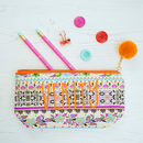 Personalised Patterned Pencil Case