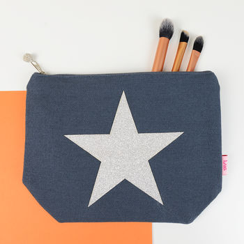 Metallic Star Make Up Bag