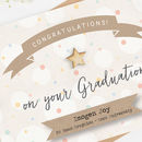 Personalised Graduation Card Pastel Spot