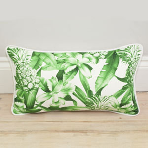 Pineapple Print Bolster Cushion - cushions