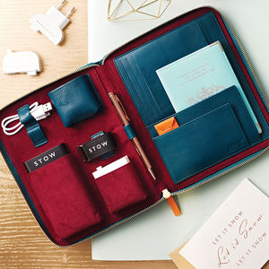 Personalised Luxury Leather Travel Tech Case For Him - gifts for him