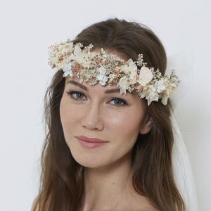 Adele Classic Half Crown - bridal hairpieces