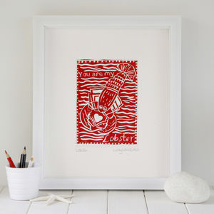 'Lobster' Print - posters & prints