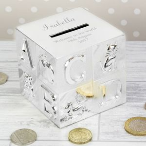 Personalised Money Box: Christening/1st Birthday Gift - top 50 christening gifts