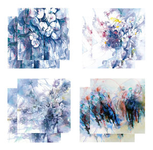 Eight Fine Art Watercolour Gift Cards Pack B - birthday cards