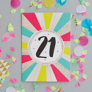 21st Birthday Foiled Greetings Card - birthday cards