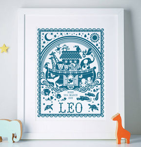 Personalised Noah's Ark Print