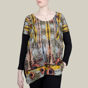 Long Top In Lichen Stones Printed Jersey