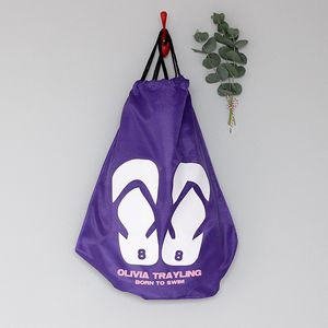 Personalised 'Flip Flop' Swimming Bag